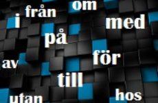 Список шведских словосочетаний с предлогами